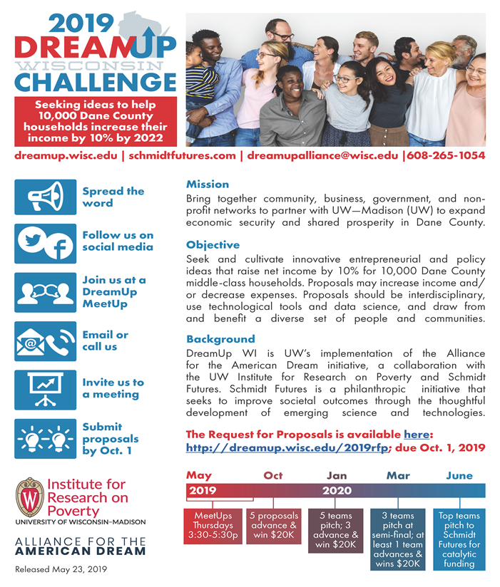 Thumbnail of DreamUp Wisconsin 2019 Challenge Flyer